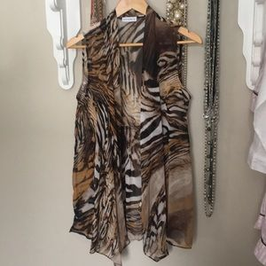 Susan Graver Wild Print Sheer Summer vest